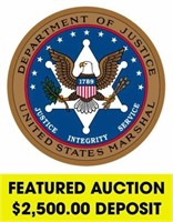 U.S. Marshals (Featured) online auction ending 7/12/2021