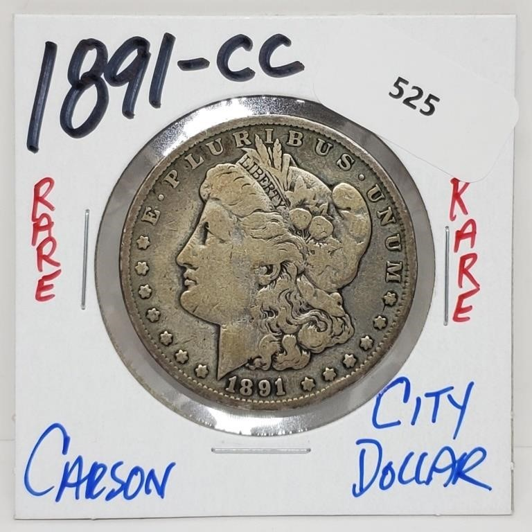$1 Start Rare Coins & Fine Jewelry Auction 6/22 8 PM CST