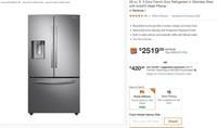 A37 Samsung - 28 Cu. Ft. French Door Refrigerator