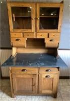 6' Oak Kitchen Cabinet