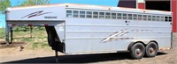 Lot 5004- 2001 Travalong Stock Trailer   Absentee bidding available on this item. Click catalog tab for more information & pictures.