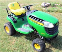 Lot 5011B- JD D100 Lawn Tractor   Absentee bidding available on this item. Click catalog tab for more information & pictures.