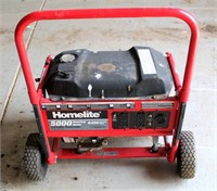 Homelite 5000 Generator.  (hope to have it running by sale day)