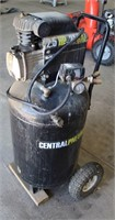 Lot 5019 - Central Pneumatic Upright Air Compressor   Absentee bidding available on this item. Click catalog tab for more information & pictures.