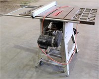 Lot 5022- Rigid Table Saw   Absentee bidding available on this item. Click catalog tab for more information & pictures.