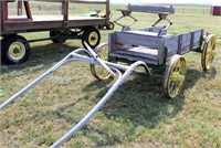 Lot 5027 - Horse Drawn Wagon w/Steel Whls.   Absentee bidding available on this item. Click catalog tab for more information & pictures.
