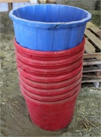 Empty Mineral Buckets/Tubs